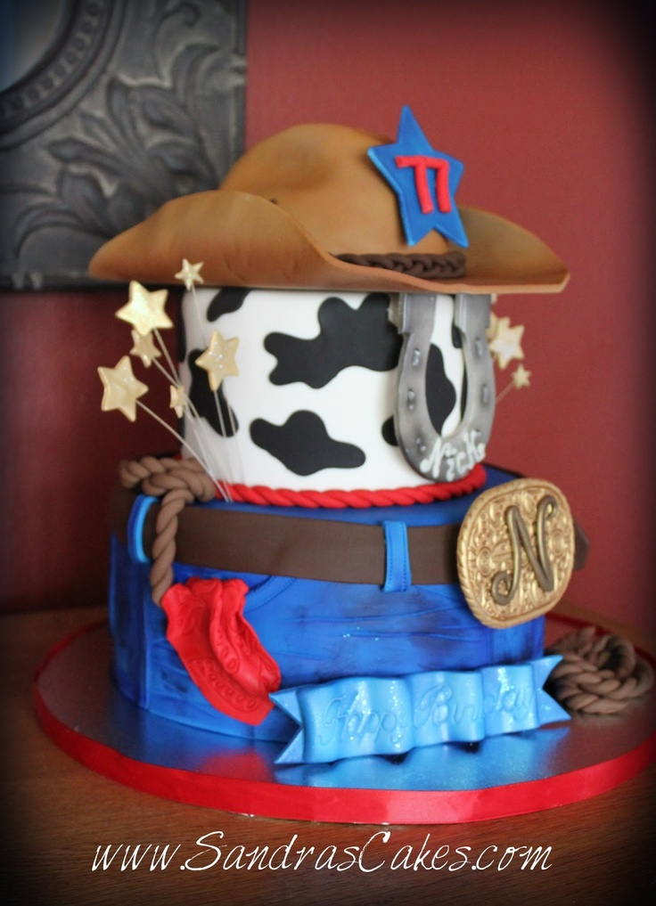 cowboy western birthday cakes | Surprise birthday party for Nick. This Western themed cake was a total ...
