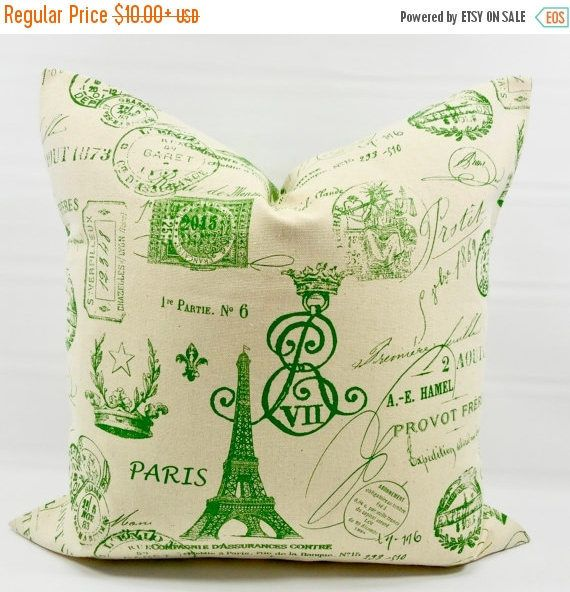 green pillow cover french stamp kelly green u0026 natural pillow cover pillow case 1 piece cotton select size