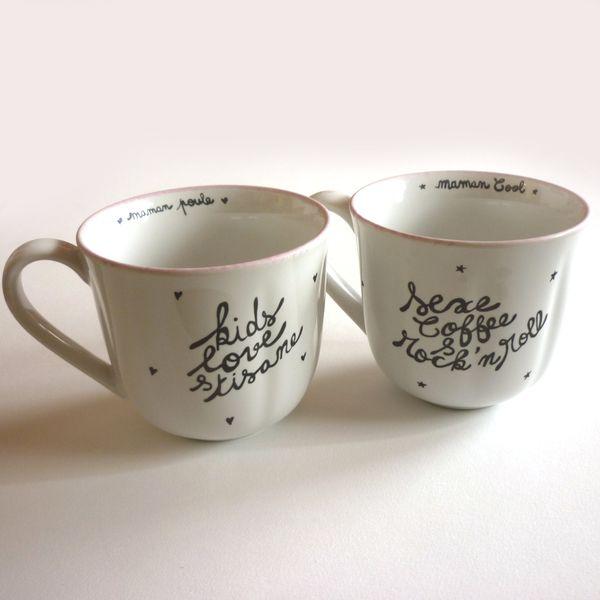 Conjunto de 2 tazas tasses campagne
