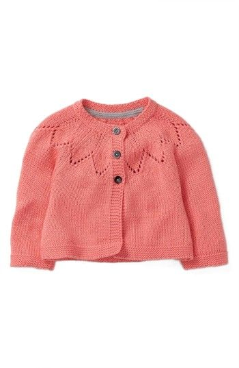 Free shipping and returns on Mini Boden Cozy Cardigan (Baby Girls & Toddler Girls) at Nordstrom.com. Your little flower will stay cozy in style in this cardigan with petal-inspired link-stitch detailing around the neckline.