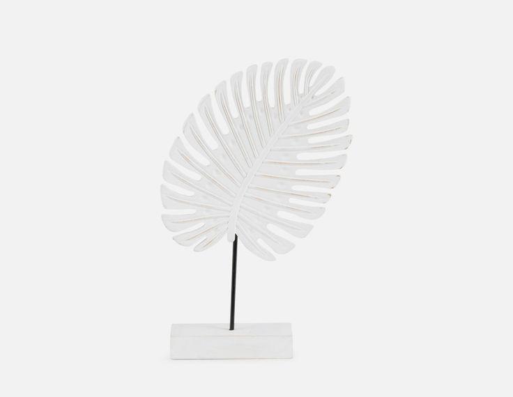 ARECA - Leaf Sculpture 30cm - White