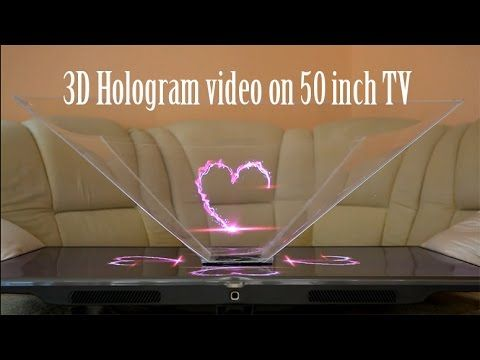 Turn your 50 inch TV to 3D Hologram projector