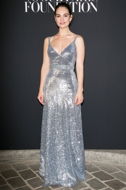 Our favorite style stars descended upon the City of Lights for Haute Couture week: Lily James.