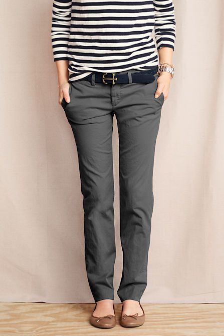Women's True Slim Chinos from Lands' End- I like the color and the cute of these pants