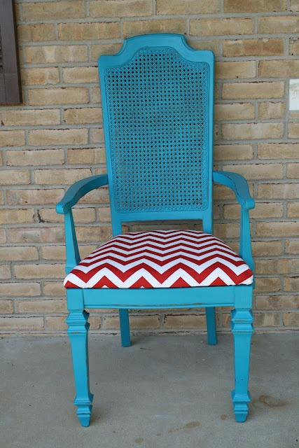 Primitive Proper: The Cool, Funky, Fresh Lone Soldier Turquoise And Red  Chevron Chair My Furniture Projects