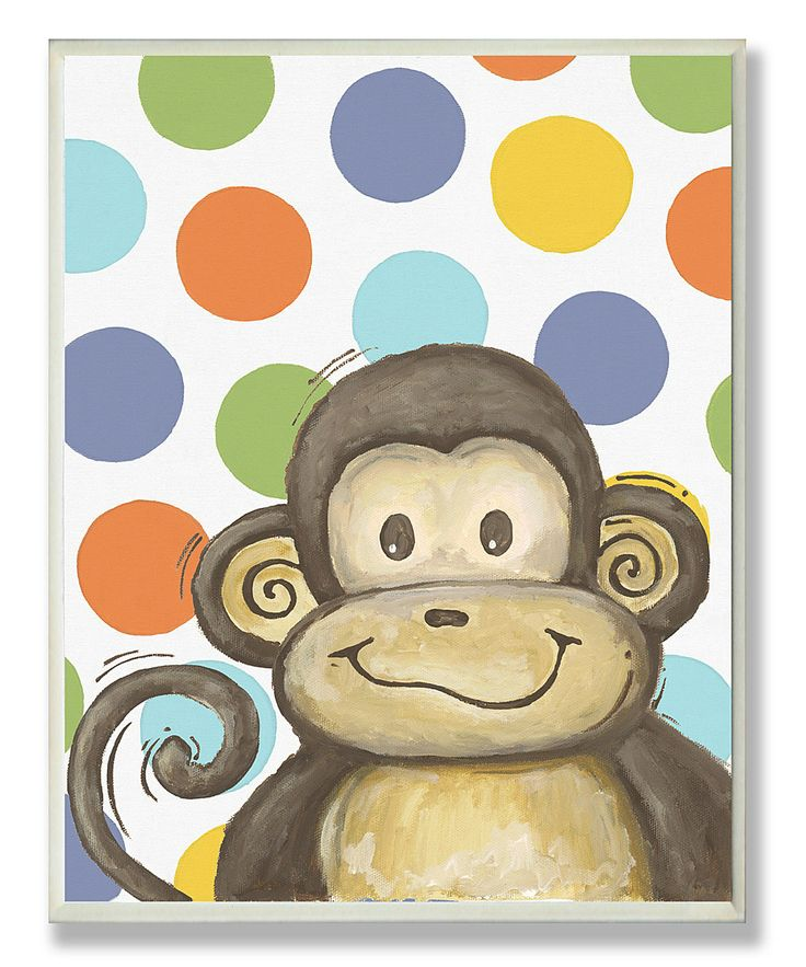 monkey and polka dots.. perfect theme for a nursery!: Buddy Monkey, Monkey Multi, Polka Dots, Lil Buddy, Multi Circles, Circles Wall, Monkey Wall, Baby Rooms, Kids Rooms