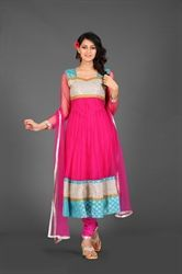 Picture of Hot Pink Kameez with Churidar