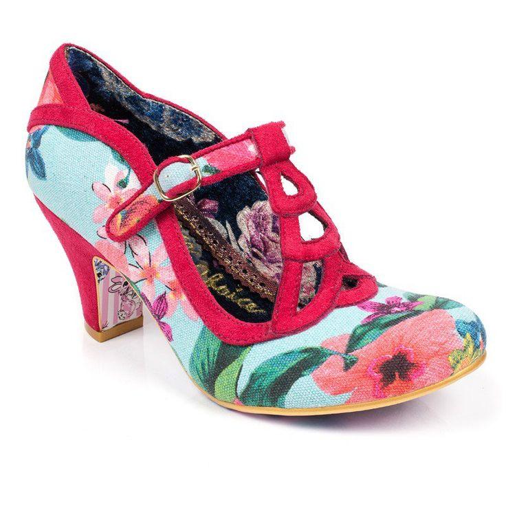 Irregular Choice Shoes Size 40 (7/8) Cortesan Sweetheart Red
