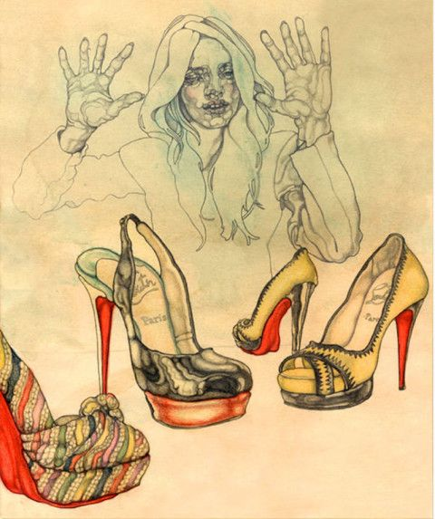 Illustration - Carmen Garcia Huerta - The Mushroom Company - shoes
