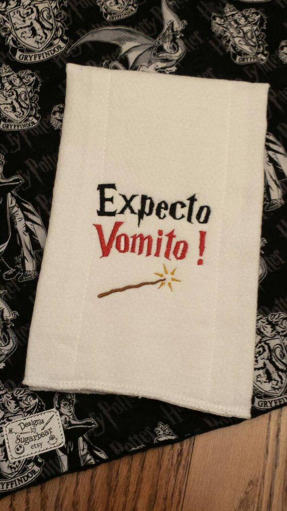 Hey, I found this really awesome Etsy listing at https://www.etsy.com/listing/289417031/burp-cloth-harry-potter-expecto-vomito