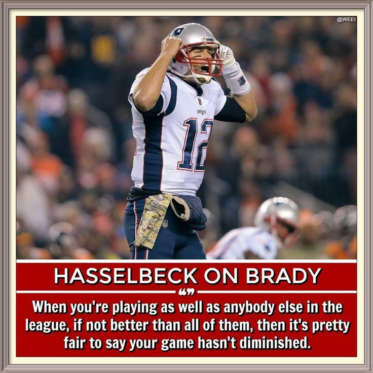 Tim Hasselbeck says Tom Brady is playing best football of his career: