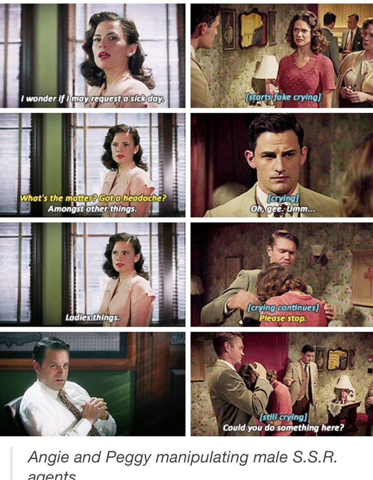 Peggy and Angie using their femininity against men is the best!!! Angie needs to be a series regular!