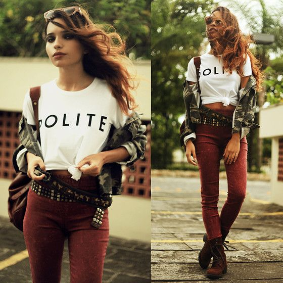 Brashy Couture T Shirt, Sheinside Skinny Pants, Romwe Jacket, Chicwish Sunglasses - POLITE - Alana Ruas