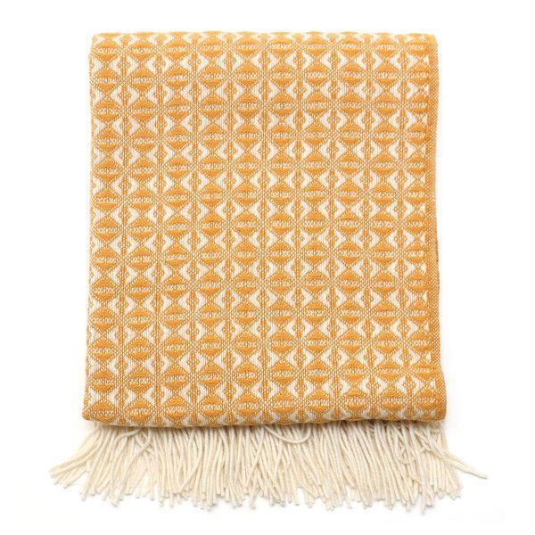 British Made 100% Wool Cobweave Throw