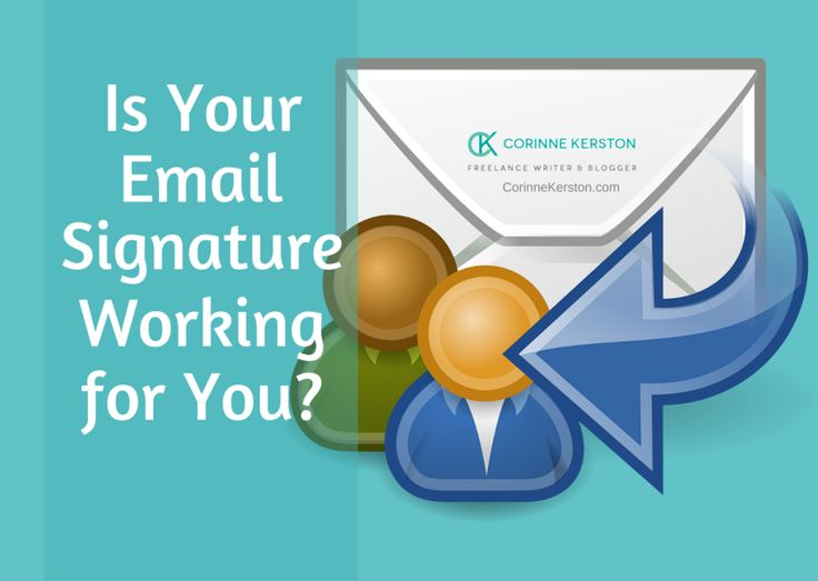 Is Your Email Signature Working for You? - Corinne Kerston