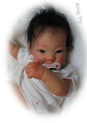Lee Middleton Asian Baby Doll Reva Shick Reborn Signed & Numbered Precious Baby!
