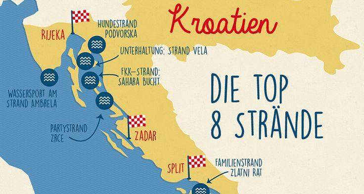 Ob mit der ganzen Familie, dem lieben Schatz oder der Partygruppe - Kroatien bietet viele traumhafte Strände. Wir stellen Ihnen 8 schöne Strände in Kroatien vor.