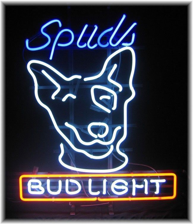 SPUDS BUD LIGHT NEON SIGN (NEW)