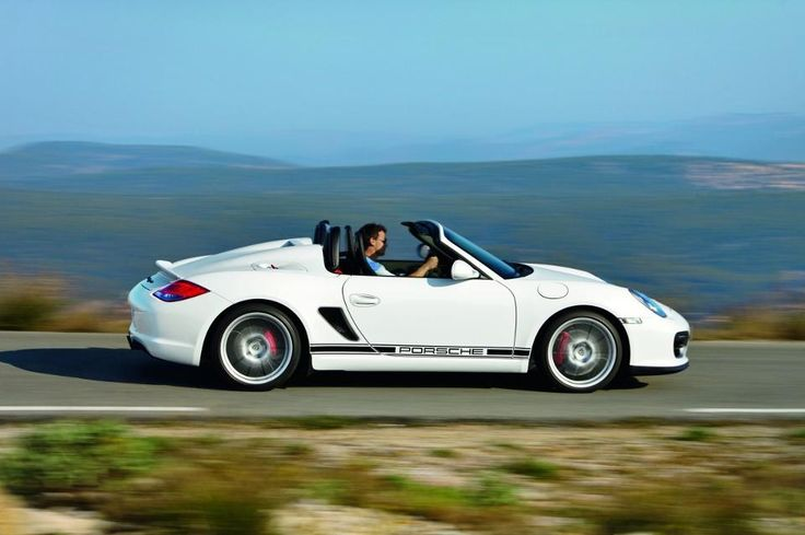 """ABOVE: The first Boxster Spyder had a warmed-over Boxster S engine, an impractical Bimini top that could not withstand automated car washes or speeds over 120 mph, and """"streamliners"""" behind the head rests. It was a cautious first attempt with a few eccentricities."""