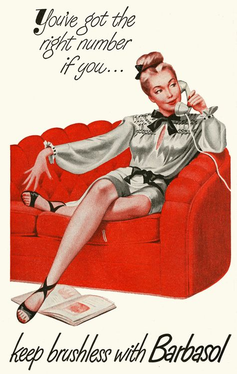 pinupgirlsart:    1947 Barbasol ads