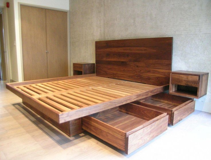 10 Ways To Make Your Own Platform Bed With Storage In 2020 Bed