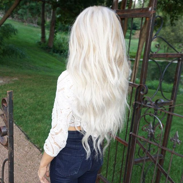 "bellamihair 220g 22"" ombré #18/platinum extensions for volume and length"