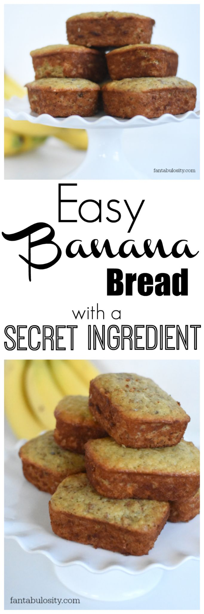 What!! Who knew this would make it moist. This is the best I've had. Easy banana bread recipe for sure. fantabulosity.com