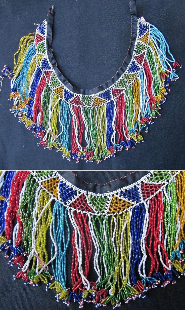 'Gerdanlık'. Beadwork necklace, to be worn close to the neck. Mid 20th century. From Türkmen villages in the Dinar district (Afyon province), e.g. Çölovası köyleri. (Kavak Folklor Ekibi & Costume Collection-Antwerpen/Belgium).