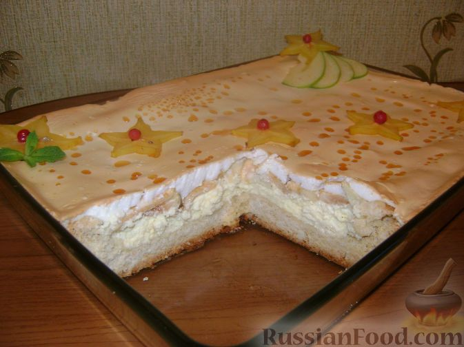 Фото приготовления рецепта: Королевский пирог (с яблоками и творогом) - шаг №14