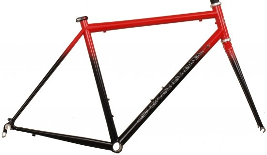 Fancy steel bike frame. Steel is real.