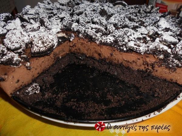 Τούρτα με Oreo και κρέμα σοκολάτας #sintagespareas
