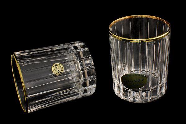 Стопки для водки, 6 шт, 60 мл, Пиза золото/серебро