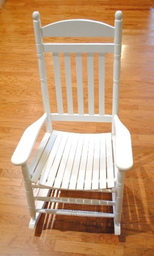 (CLICK IMAGE TWICE FOR UPDATED PRICING AND INFO) outdoor chairs - Mango Wood White Rocking Chair « zPatioFurniture.com