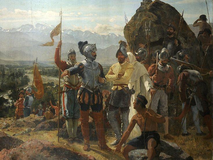 La fundación de Santiago - Pedro Lira