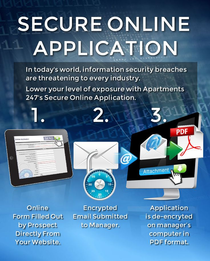 """Features  Your exact application, not a """"generic"""" application  No login required for your prospective residents  Your secure application rendered to government encryption standards  Sent directly to your community's email inbox  No storage of your prospect's sensitive information on third party servers vulnerable to hackers  No expensive set up costs    For More Information  Give us a call @ 877-247-2550   #security #application #apts247  #apartments"""