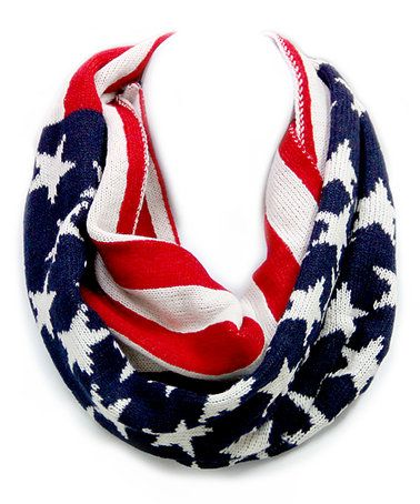 Look what I found on #zulily! Red & Blue Americana Flag Infinity Scarf #zulilyfinds