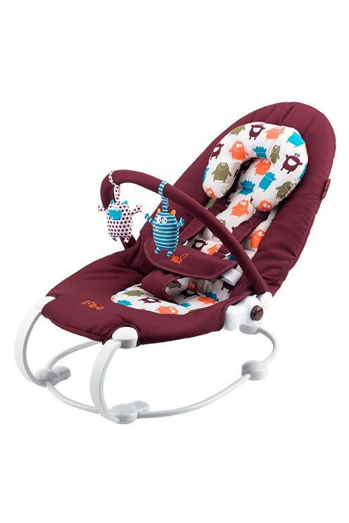 Elegant og smidig babysitter som forsiktig roer og luller barnet ditt.<br>Kan plasseres i to nivåer, fra å sitte opp og leke eller ved mating til å folde ned og hvile. Den foldes ned ved å enkelt trykke på sideknappene - veldig praktisk for spebarn.<br><br>Fempunktssele som er sikker, superbehagelig og lett å bruke samt en ekstra støtte for hodet for at barnet skal kunne ligge behagelig.<br><br>Morsomme, myke leketøy i fine farger som barnet kan underholde seg med som er festet på bøylen…