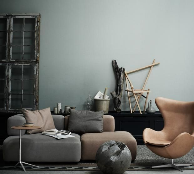 Die besten 25+ Grau grüne farben Ideen auf Pinterest Graugrüne - wandfarbe grau