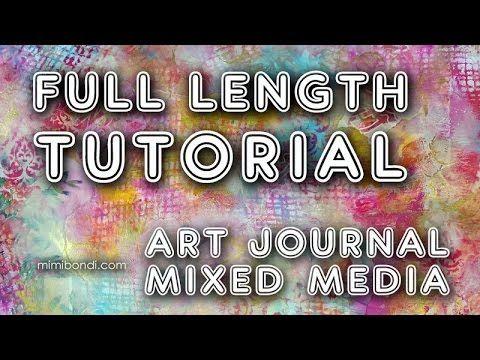 """Studio Time 32 - """"Daphne's Diary"""" Magazine mixed media art tutorial with Mimi Bondi - YouTube"""