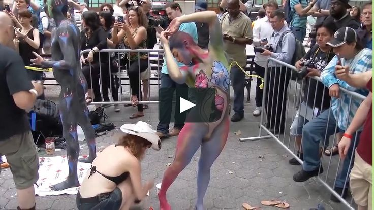 The ultimate combination of live Graffiti with Nude Body Painting to a very Sexy Street Art for 18+ spectators