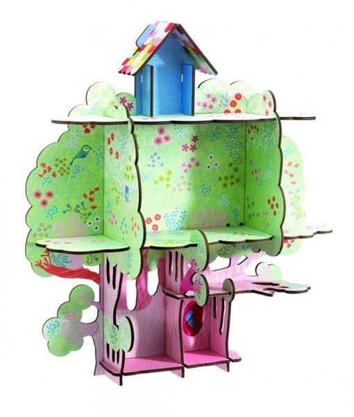 pyssla och lek, barnrum, bokhylla, hylla, bokhyllor, roliga hyllor, Djeco, förtrollad skog, sagoskog