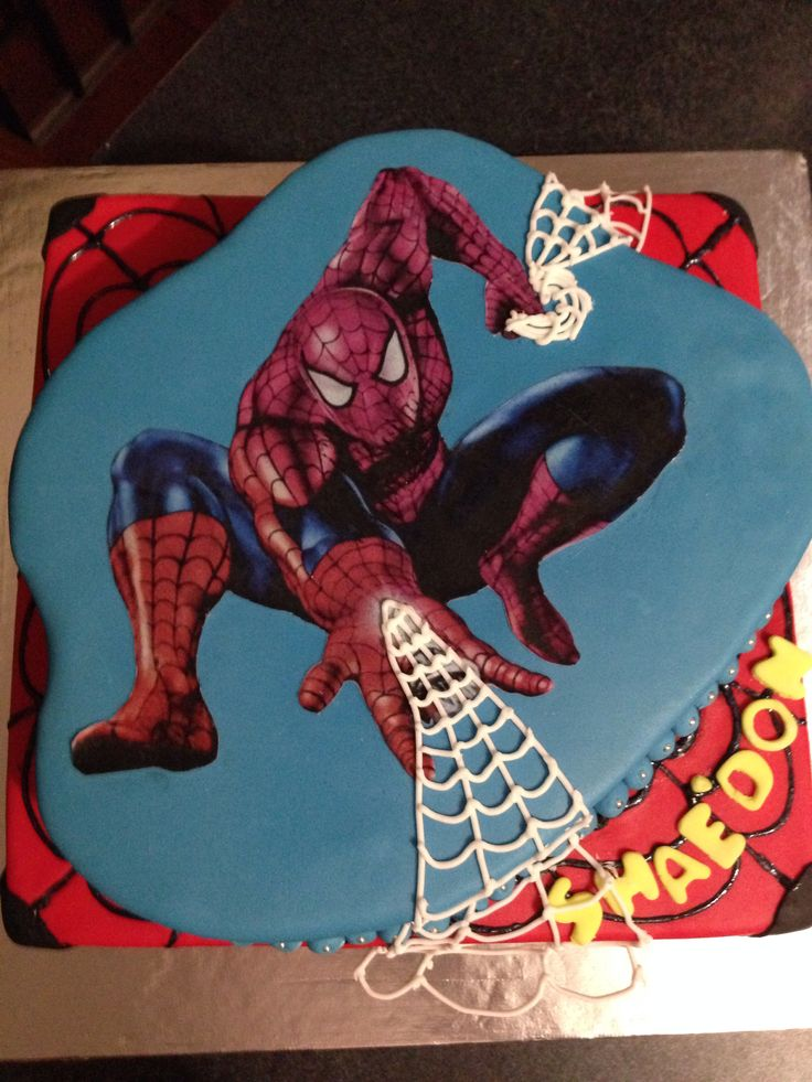 #spidermancake#birthdaycake#superherocake