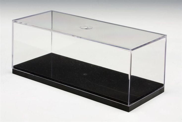 Model Display Case w/ Acrylic Lift-Off Top & Black Base