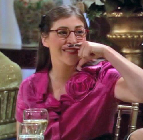 Big Bang Theory Amy Farrah Fowler Fingerstache