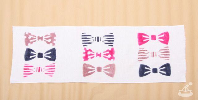 Japanese Tenugui 〈bowtie〉x | 手染めてぬぐい〈蝶ネクタイ〉よこならび