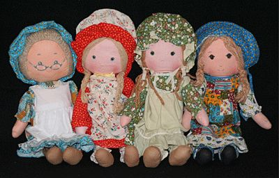 Life Size 1970's rag dolls - Holly Hobbie and friends