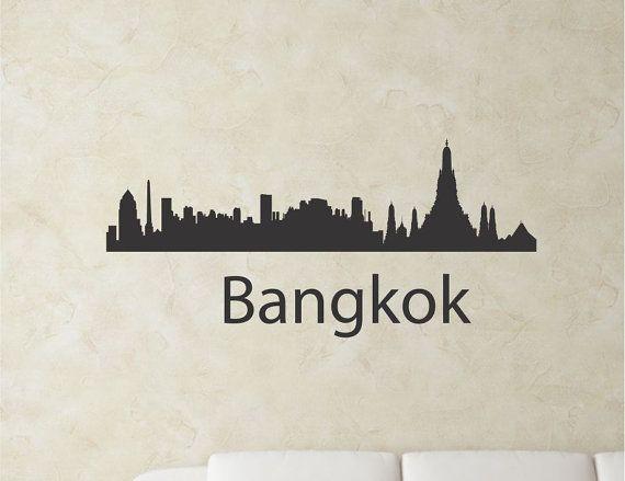 Slapart bangkok thailand city skyline vinyl by for Bangkok tattoo prices