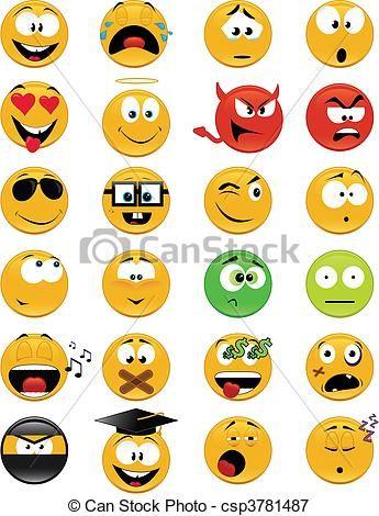 Vector - Smiley, Gezichten - stock illustratie, royalty-vrije illustraties, stock clip art symbool, stock clipart pictogrammen, logo, line art, EPS beeld, beelden, grafiek, grafieken, tekening, tekeningen, vector afbeelding, artwork, EPS vector kunst