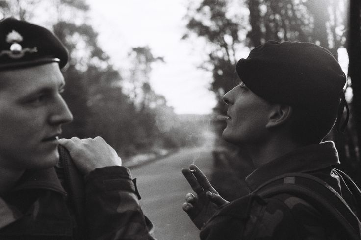 Two students from the French Special Military School of Saint-Cyr are taking a rest before starting an orientation trail. | Credit: Ryan Burton | Spec:  Asahi Pentax K-1000, SMC Pentax-A 50mn 1:1,7, f=4, 1/125 ISO: 400, HP5+ film