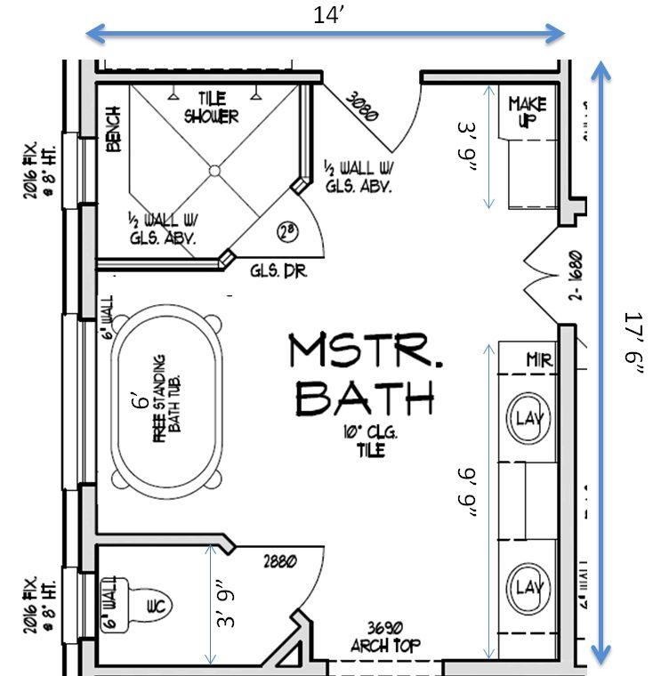 Interesting Ideas 10 8 X 14 Bathroom Layout Help With Bathroom